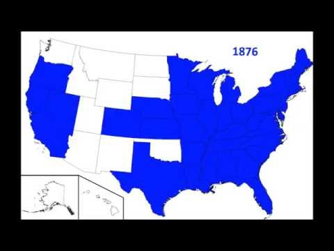 US States by year of statehood