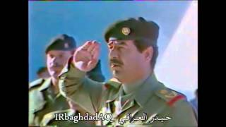 زيارة الرئيس الراحل صدام حسين الى نصب الشهيد العراقي في ذكرى يوم الشهيد
