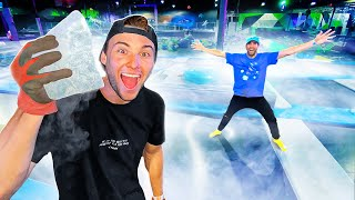 Filled Entire Trampoline Park With Dry Ice! *EXPERIMENT*
