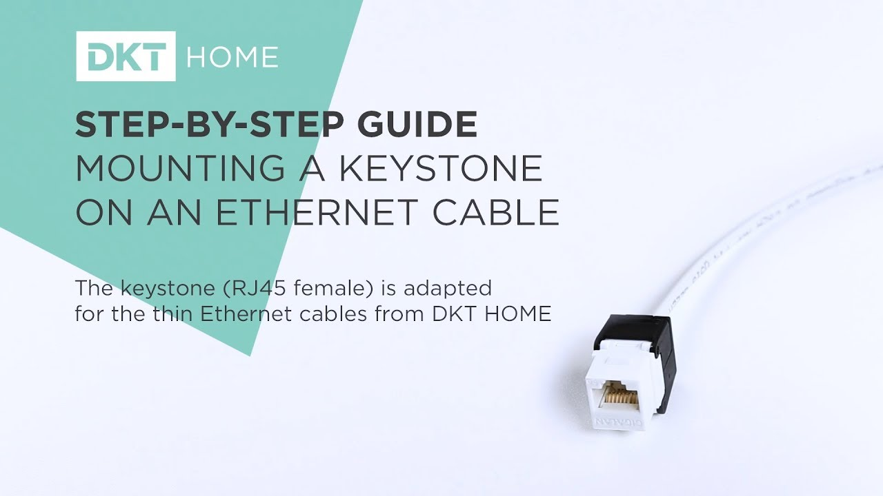 Step By Guide Mounting A Keystone On An Ethernet Cable Youtube Home Wiring Dkt