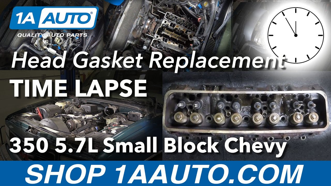 Time Lapse Small Block Chevy Engine 350 5 7l Head Gasket Replacement