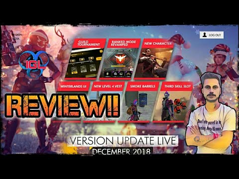 FREEFIRE NEW UPDATE REVIEW BY IGL!!EXPLAINED EVERYTHING!!GUILD TOURNAMENT,SKILL SLOT, RANK TOKEN....