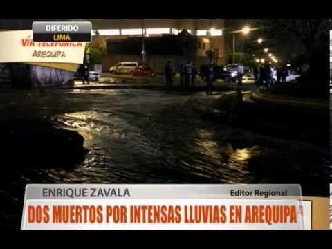 Dos muertos por intensas lluvias en Arequipa