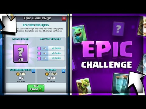 9 WINS IN NEW EPIC CHALLENGE - TWICE!! + 12 WIN GRAND CHALLENGE RUN! in Clash Royale