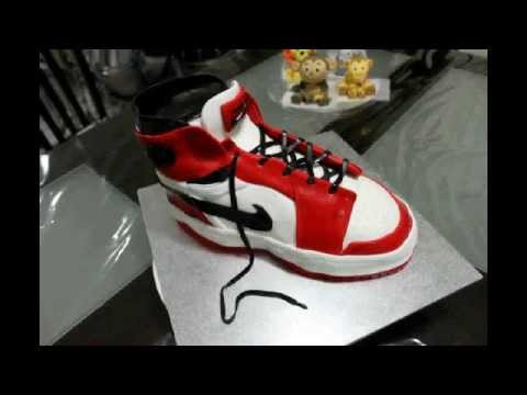 Retro Nike Air Jordan Basketball Shoe Cake - YouTube