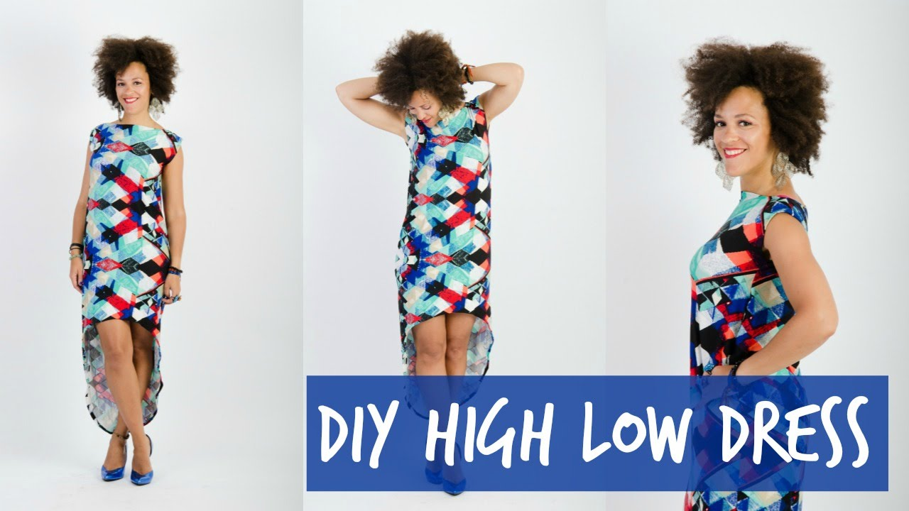 how to make a high low dress from scratch