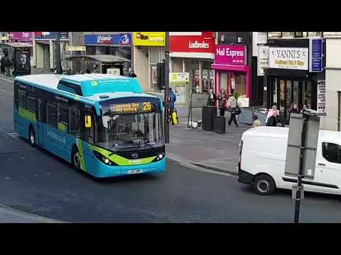 Journey on BYD Electric Bus in Liverpool (Anne Street - Water Street)