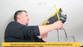 Somfy GDK700 garagedeurmotor installatie