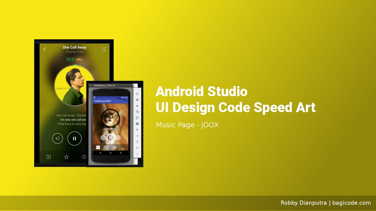 Joox Music Page | Android Studio UI Design Code Speed Art #6