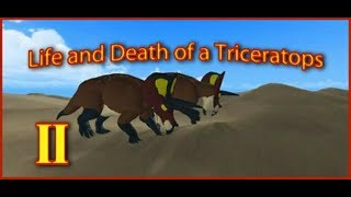 Roblox| Era of Terror| Life and Death of a Triceratops II|