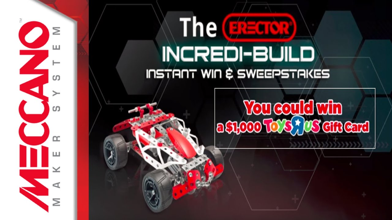 The Erector Incredi-Build Instant Win & Sweepstakes
