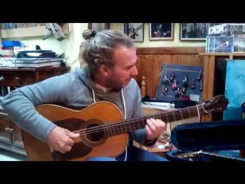 Albertus (A. Nuijten) playing Canarios on a very special guitar.