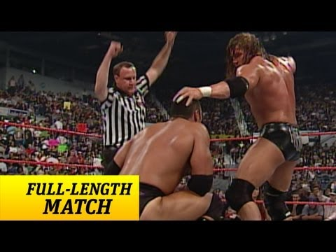 FULL-LENGTH MATCH - Raw - Triple H vs. The Rock - WWE Championship Match
