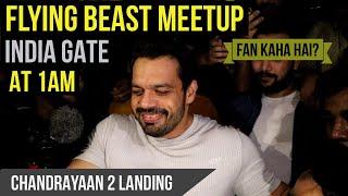 Flying Beast Meetup India Gate | Moon Landing by ISRO | Flying Beast | Flying Beast new Video