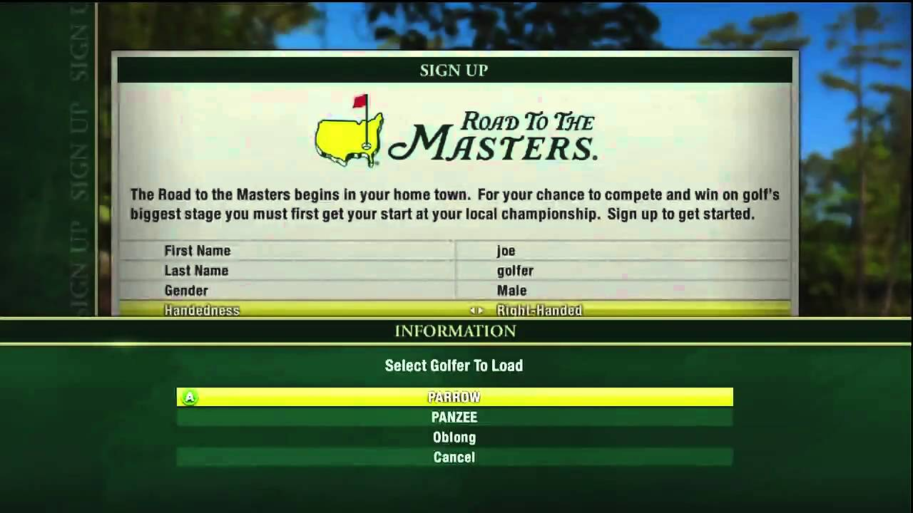 Tiger Woods Pga Tour 12 The Masters Importing Xp