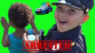 Cop Kid Patrol - BUBBLES! Cop arrests little kid, for breaking the rules!