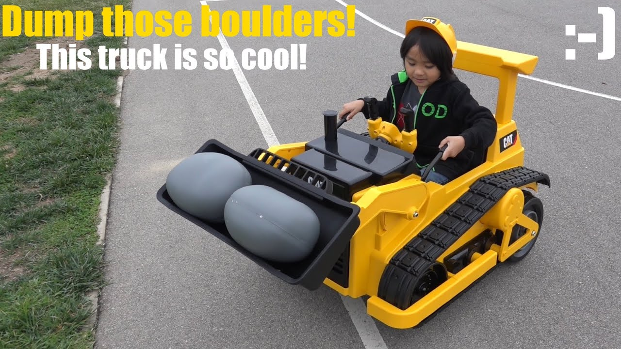 Battery Operated Ride On Trucks Caterpillar Bulldozer Toy
