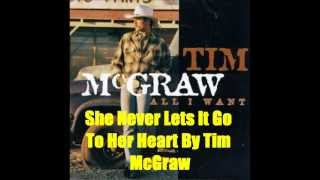 She Never Lets It Go To Her Heart By Tim McGraw *Lyrics in description*
