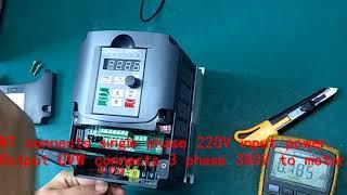 1 phase 220v to 3 phase 380v 5.5kw VFD/inverter transformer