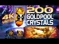 200 Goldpool (Pool's Gold) Crystal Opening (4000 Units) | Marvel Contest of Champions