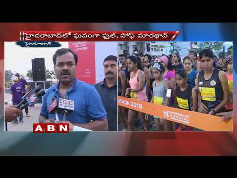 Youth participate in Hyderabad full and Half Marathon in large number