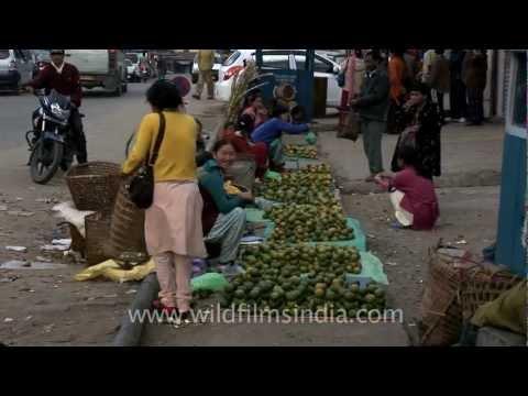 Local fruit market in Arunachal Pradesh