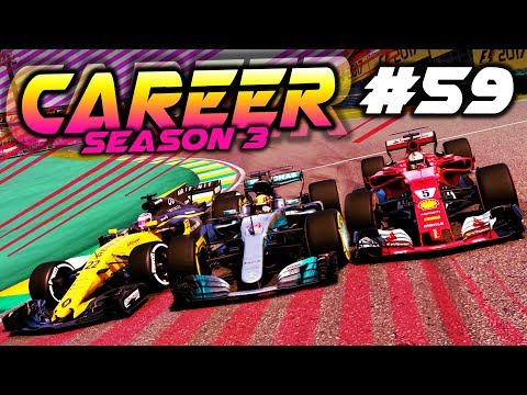 F1 2017 Career Mode Part 59: 3 WIDE MOMENTS IN BRAZIL!