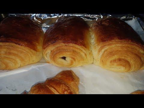 recette-croissant-et-pain-au-chocolat🥐🥐-avec-la-pâte-feuilletée-levée
