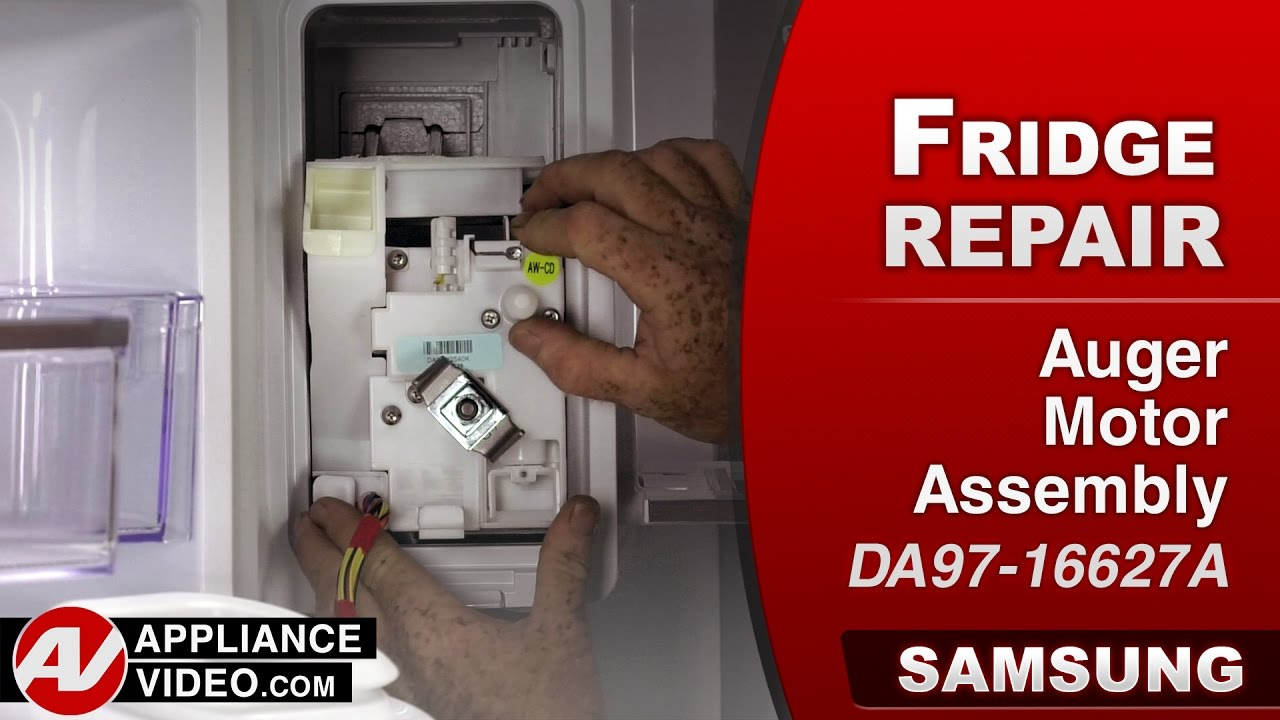 samsung refrigerator auger motor assembly repair diagnostic [ 1280 x 720 Pixel ]