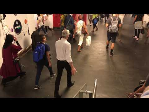 "Amazing Opera Singer  Christophe Ménager  Paris Metro ""Chatelet"" Patrt 2"