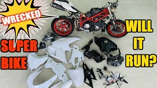 Rebuilding My Wrecked Ducati SuperBike That I Bought At Copart Part 2