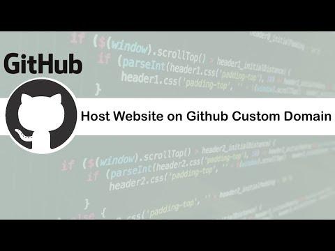 How To Host Website On Github Custom Domain