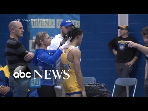 NJ high school wrestler forced to cut dreadlocks