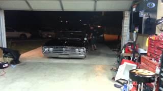1964 Oldsmobile pull in the garage