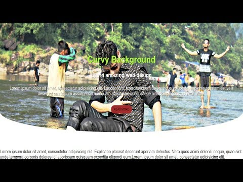 CSS Wavy Background - Using Html and Css - Pure Css Tutorial thumbnail