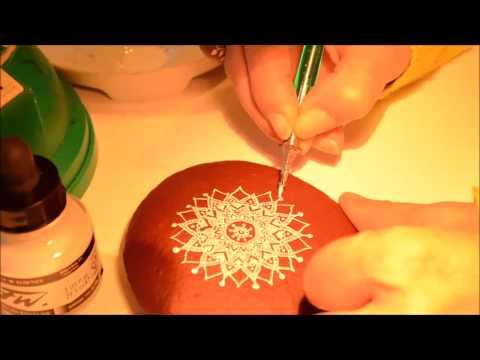 How to Paint Mandala Pebble Rock Stones