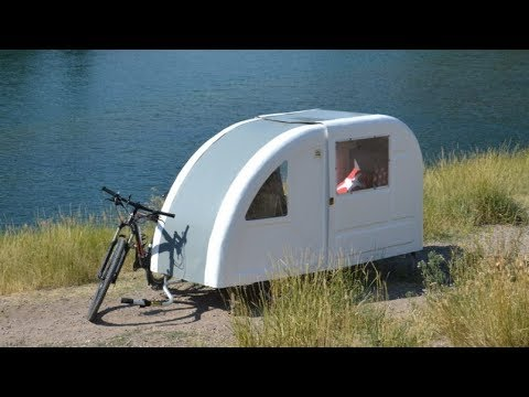 wide path camper the foldable camper can be towed by bicycle youtube. Black Bedroom Furniture Sets. Home Design Ideas