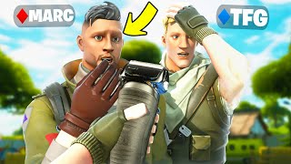 The Fortnite Guy vs KNG Pros! (LOSER SHAVES EYEBROWS)