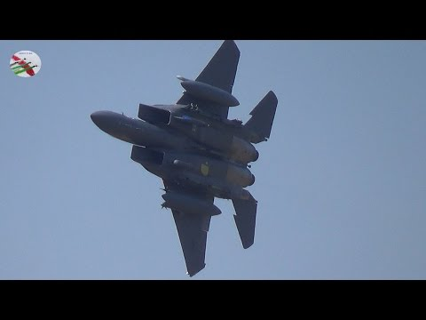 USAF F-15's Low Flying In Wales With ATC Radio Comms