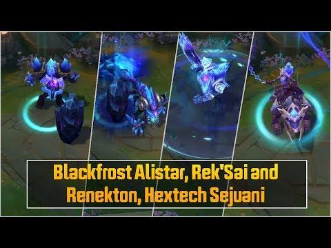 Blackfrost Alistar, Rek'Sai and Renekton, Hextech Sejuani - League of Legends