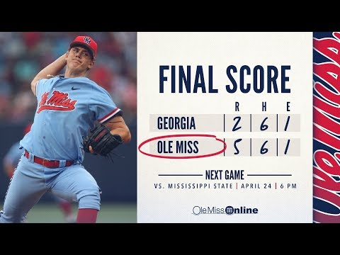HIGHLIGHTS | Ole Miss defeats Georgia:  Game #3  5 - 2 (04/21/18) #WAOM #FinsUpRebels