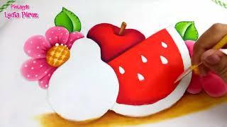 Pintura en tela paso a paso frutas estilo country