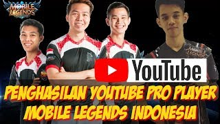 5 Penghasilan Youtube Pro Player Mobile Legends Indonesia