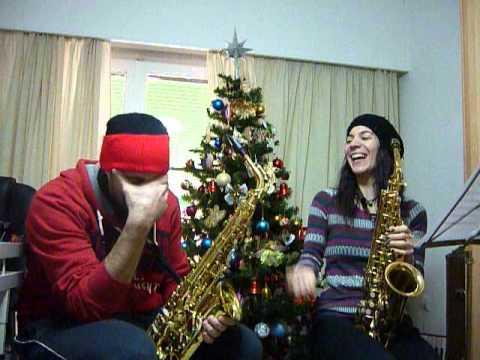 Joy to the World Christmas Carol sax alto duet(backstage 2)