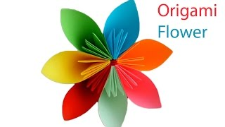 Origami Flower. How to make a beautiful Paper Flower? Origami for Kids
