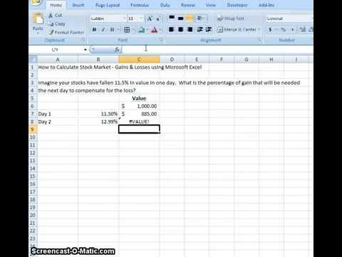 00018 how to calculate stock market gains and losses using