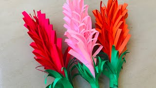 DIY Beautiful paper flowers in a simple way for beginners/ home decor/ school project
