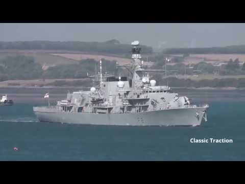 HMS SUTHERLAND F81 LEAVES DEVONPORT AT DEVIL'S POINT, PLYMOUTH: 16th August 2016