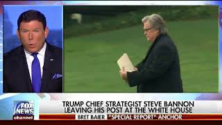 Steve Bannon out at the White House