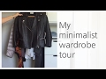 My first minimalist wardrobe tour | Decluttering + Simple Living
